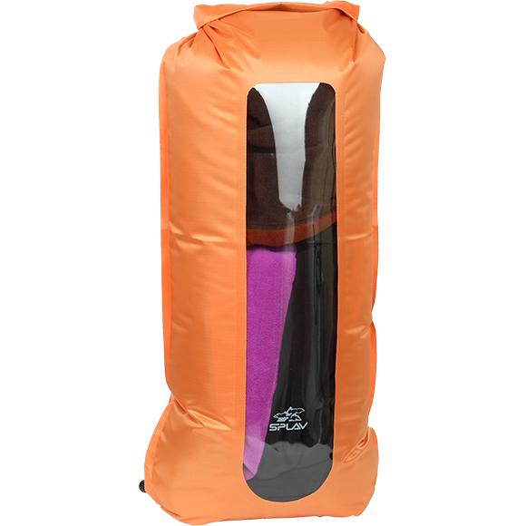 Гермомешок компрессионный с окном 35 л (оранжевый)