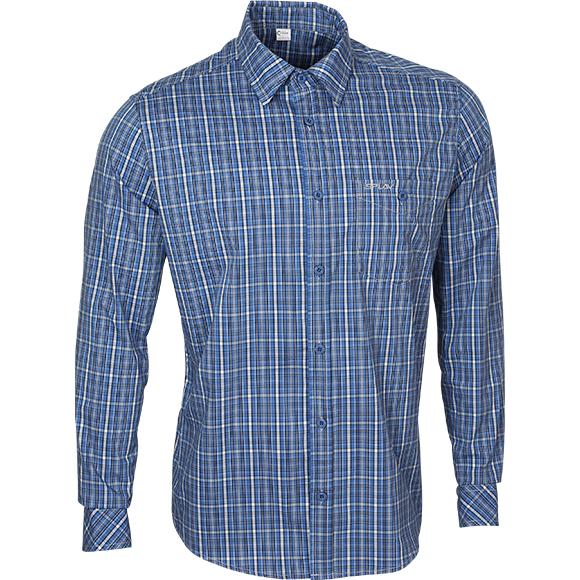 Купить Рубашка мужская Sunburn, длинный рукав, клетка синяя, Компания «Сплав»