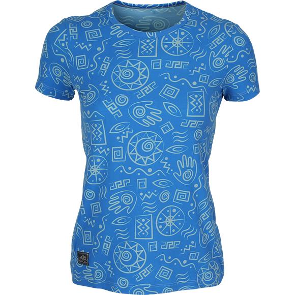 Купить Футболка женская Africa синяя (рисунок), Компания «Сплав»