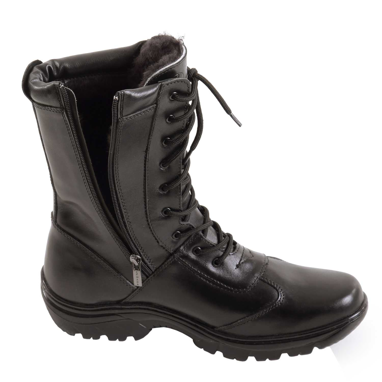 Купить Ботинки Армада Полюс м. 101з на молнии натуральный мех черные