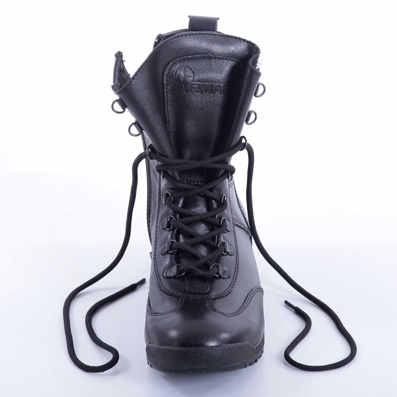 Купить Ботинки Армада Таймыр м. 1401з на молнии натуральный мех черные