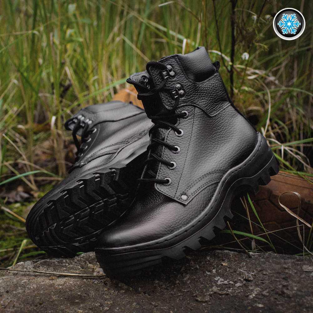 Купить Ботинки Garsing Pilot wool м. 0329 шерст. мех черные
