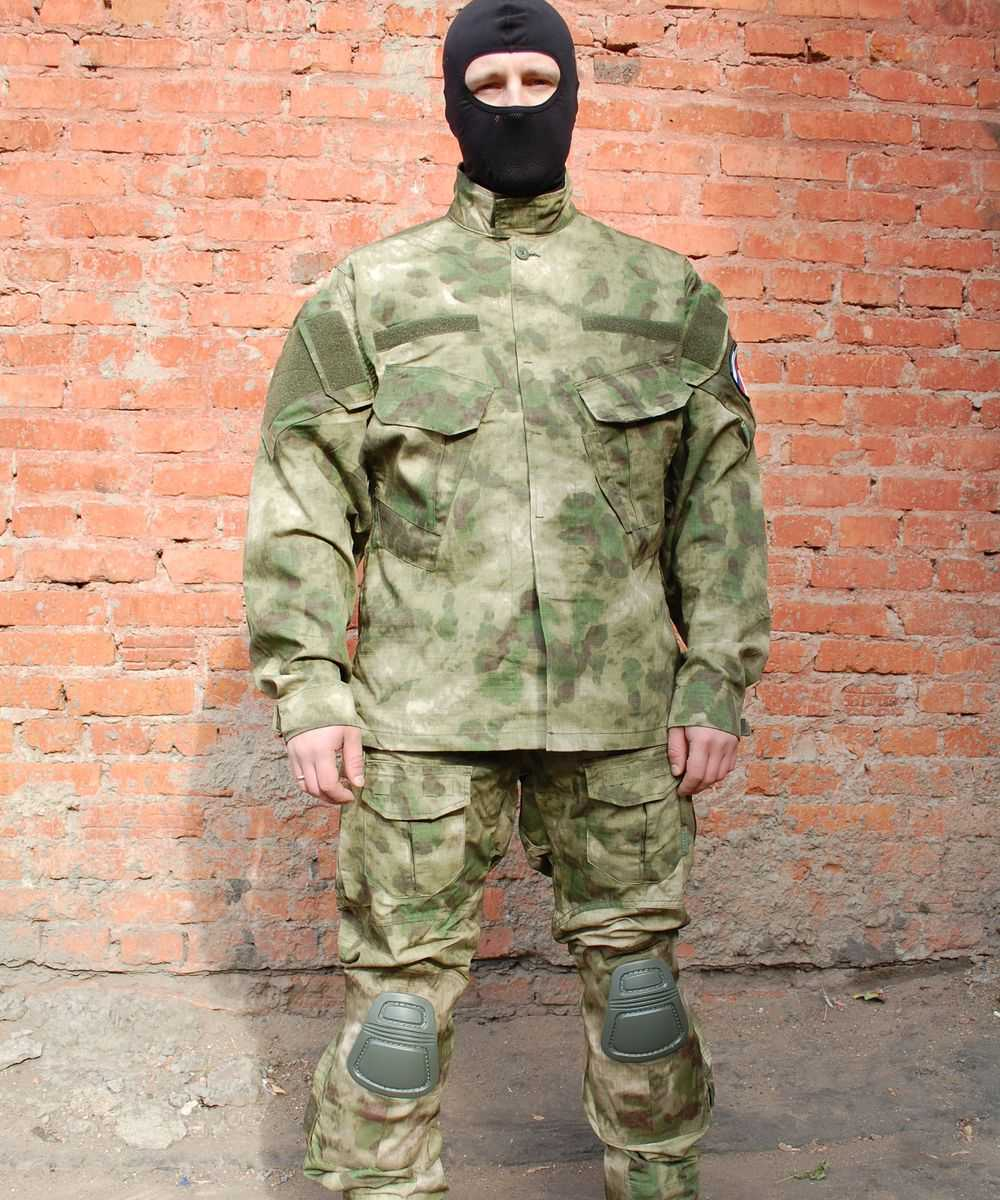 Купить Куртка Гарсинг КСПН рип-стоп с клапанами вентиляции и со съемной защитой для локтей Camo A-FG X, Garsing