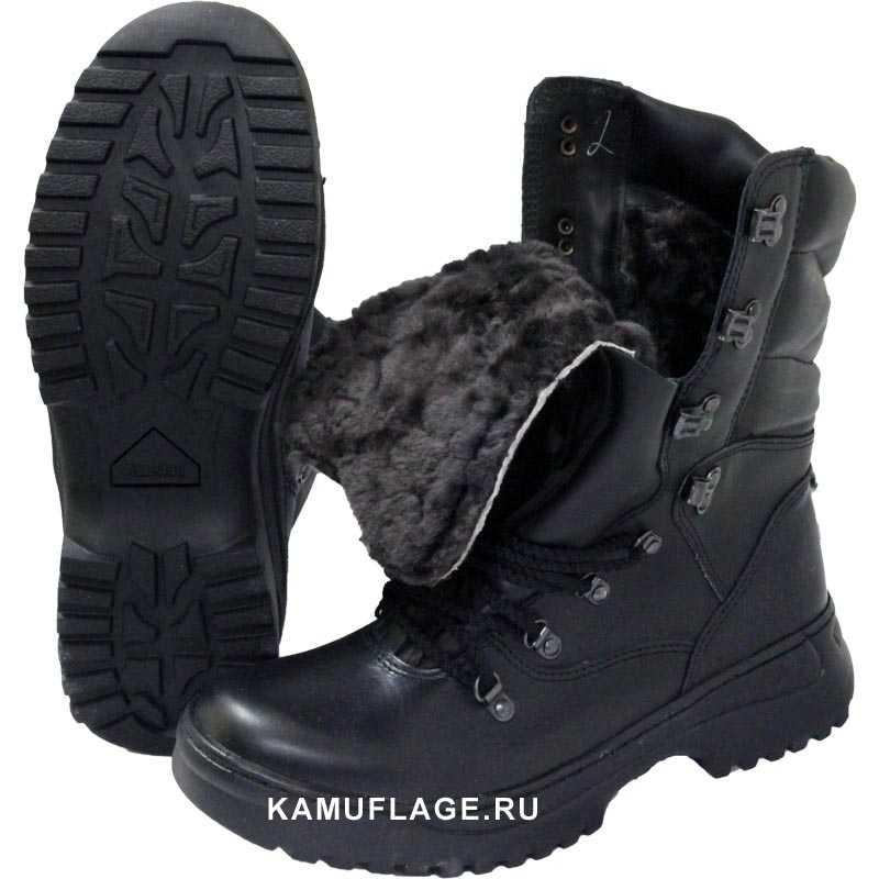 Купить Ботинки Garsing Охотник м. 620 натуральный мех черные