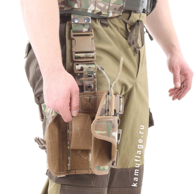 Кобура тактическая KE Титан набедренная универсальная правая A-Tacs FG, Кобуры - арт. 986490148