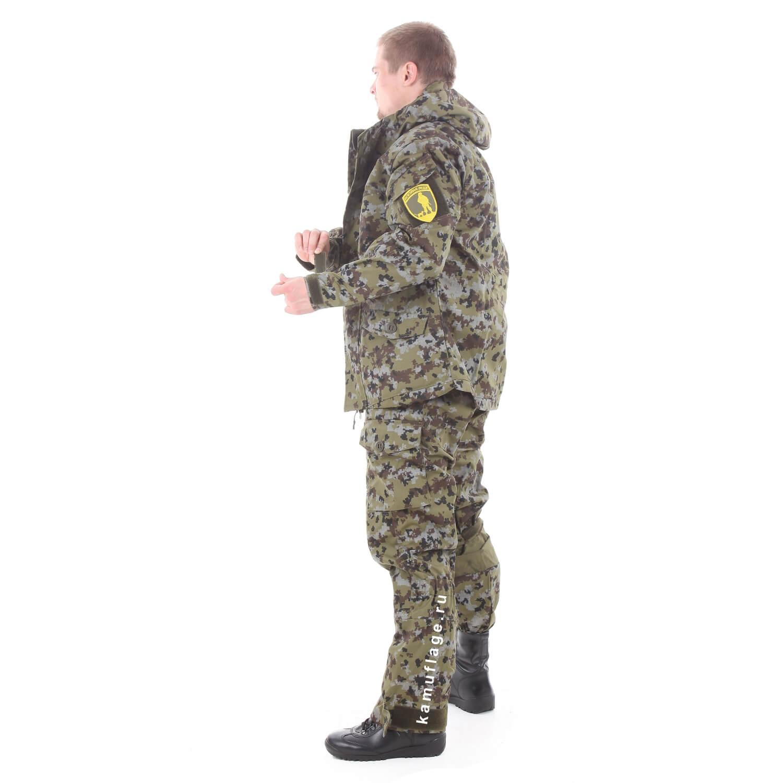 Костюм Горка-5 со съемной флисовой жилеткой рип-стоп с налокотниками и наколенниками пограничная цифра, Жилеты - арт. 1025260184