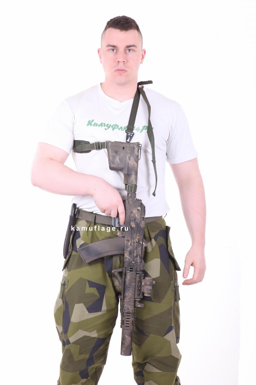 Оружейный ремень KE одно/двух точечный олива тёмная