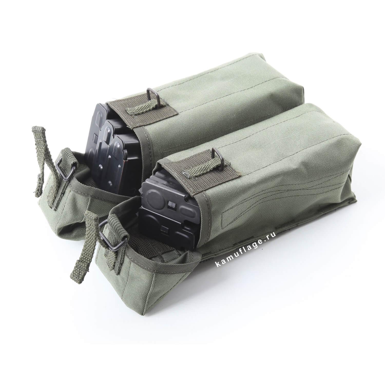 Купить Подсумок KE под АК патрульный двойной с бесшумной застежкой олива, KE Tactical