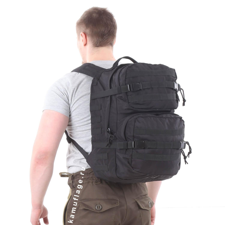 Рюкзак KE Tactical Assault 40л Polyamide 500 Den черный, Тактические рюкзаки - арт. 1026640264