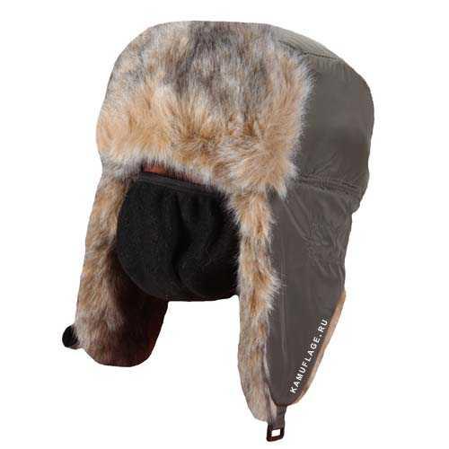Купить Шапка-ушанка Волк хаки, HUNTSMAN