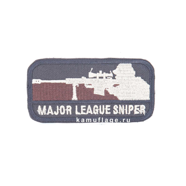 Шеврон Sniper прямоугольник 4, 5 х 8, 5 см черный/бежевый