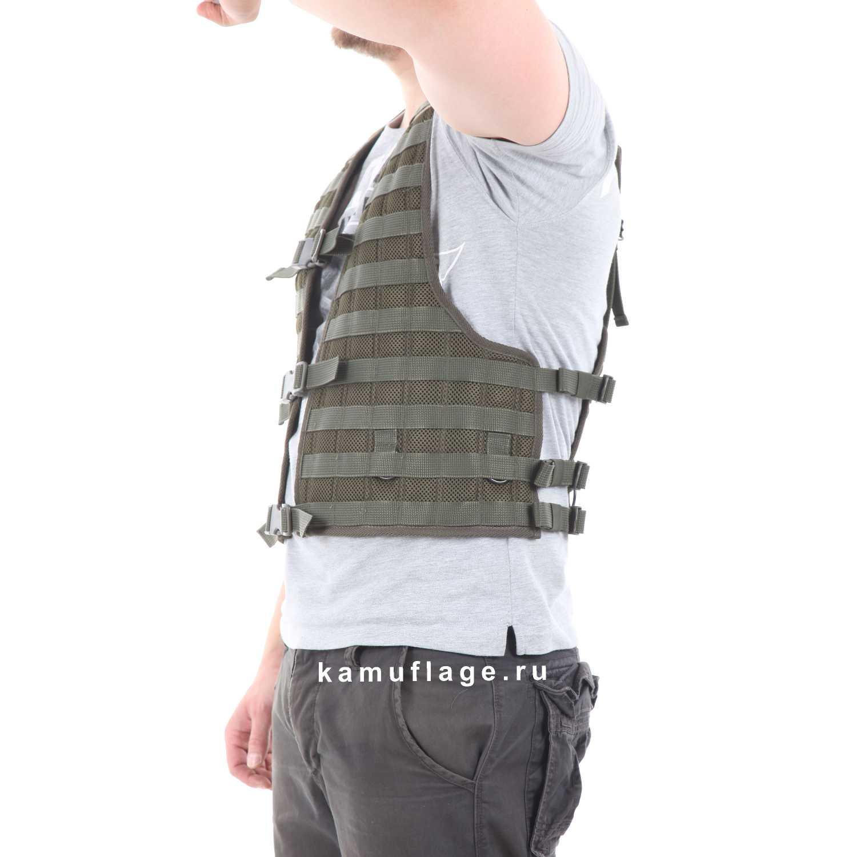 Купить Жилет-основа KE Скорпион на MOLLE с застежкой на фастекс A-Tacs FG, KE Tactical