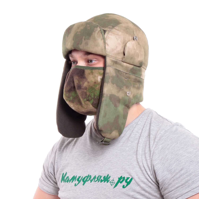 Купить Шапка-ушанка Keotica Шугун Active мембрана A-Tacs FG, маска A-Tacs FG