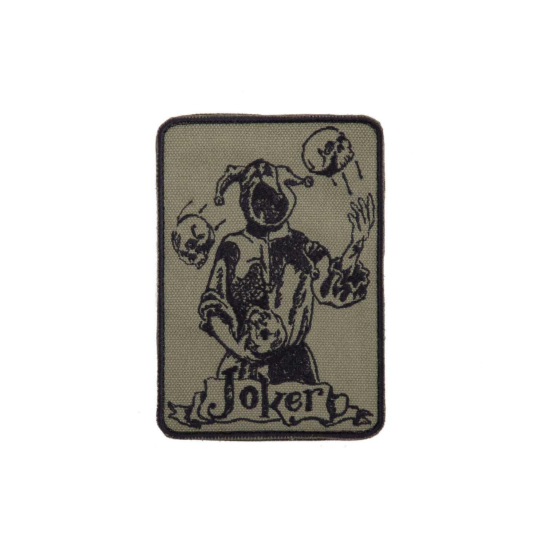 Купить Шеврон Joker прямоугольник 8, 5х12 см олива/черный, Камуфляж.Ру