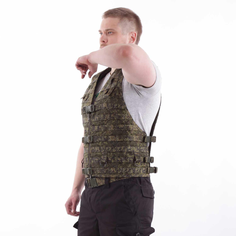Жилет-основа KE Скорпион с расширенной спиной на MOLLE с застежкой на молнию и фастекс ЕМР, Разгрузки - арт. 1026590194