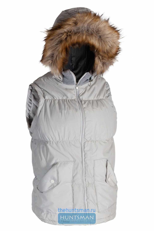 Купить Жилет Дакота Huntsman женский, утепленный, ткань Jordan, цвет - Жемчуг