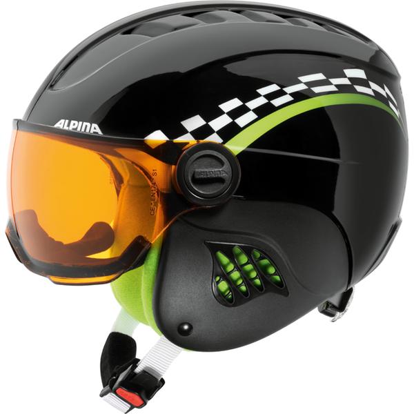 Зимний Шлем Alpina CARAT VISOR black-green - артикул: 925910428