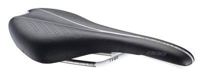 Седло BBB Arrow microfiber THR rail 130mm black (BSD-61)