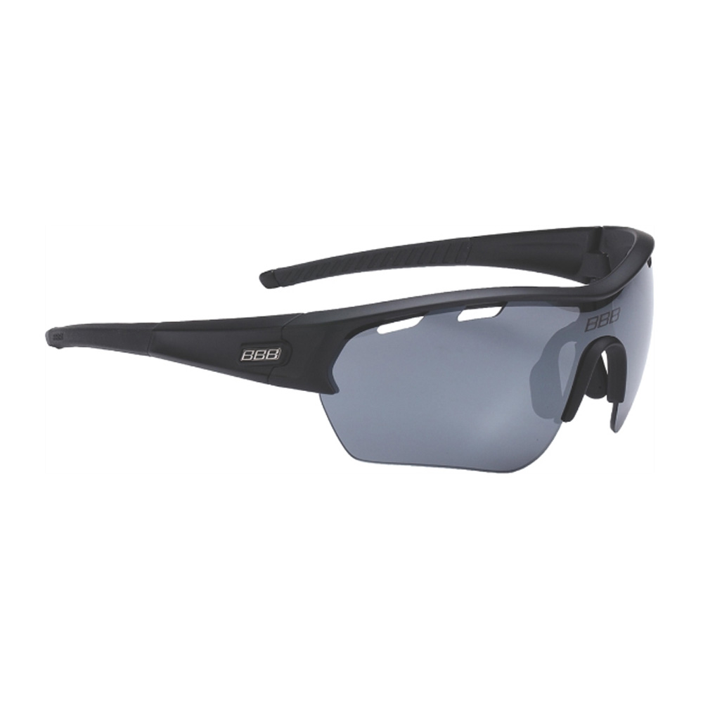 Очки солнцезащитные BBB 2018 Select XL PC Smoke flash mirror XL lens black tips черный матовый, Очки солнцезащитные - арт. 1021940413