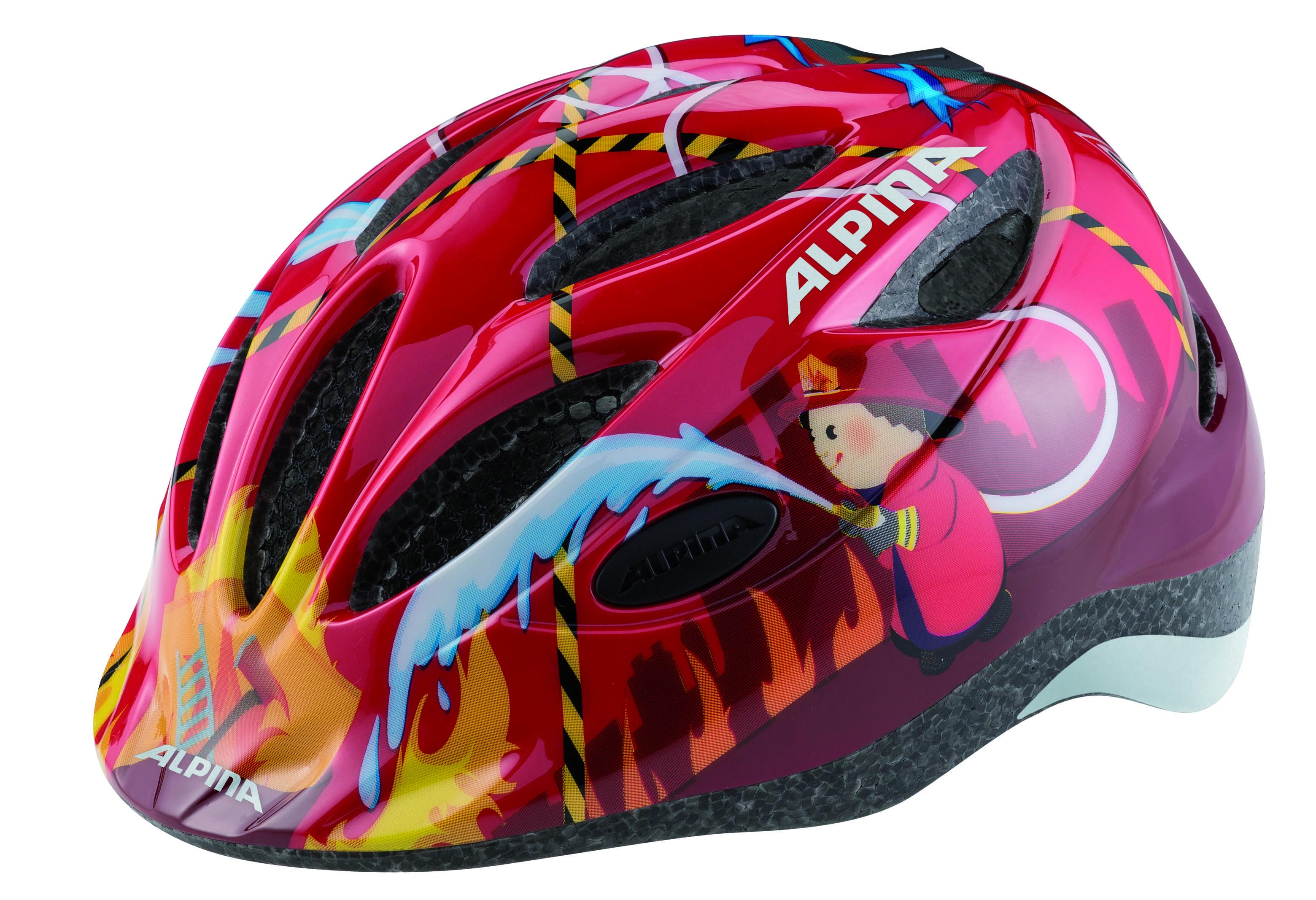 Летний шлем ALPINA JUNIOR / KIDS Gamma 2.0 red firefighter