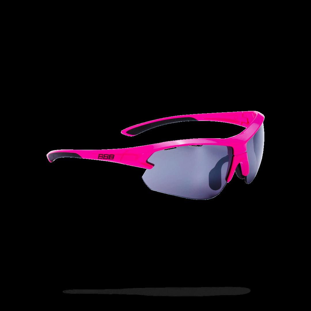 Очки солнцезащитные BBB 2018 Impulse small PC Smoke flash mirror lenses неоновый, розовый черный, Очки - арт. 1031850161