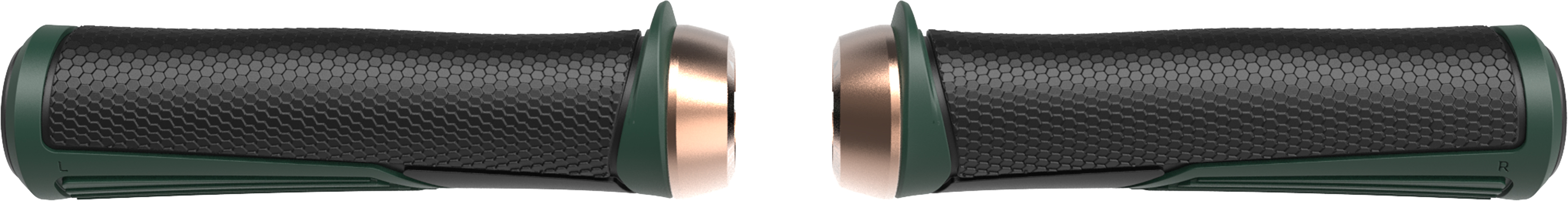 Грипсы BBB Cobra 142mm / moss green / lockring copper зелёный, Рулевая группа - арт. 1022260362