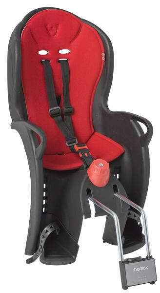 Детское кресло HAMAX SLEEPY черный/красный