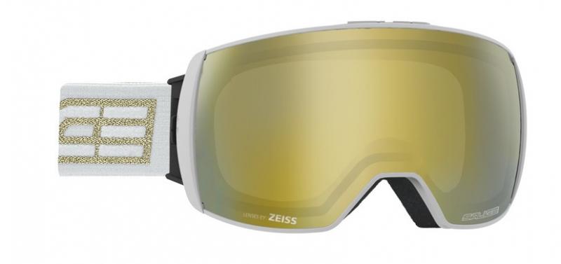Очки горнолыжные Salice 605DARWF w. Coffre & Spare Lens WHITE-GOLD/RW GOLD + SONAR (б/р:ONE SIZE), Горнолыжные очки и маски - арт. 969340418
