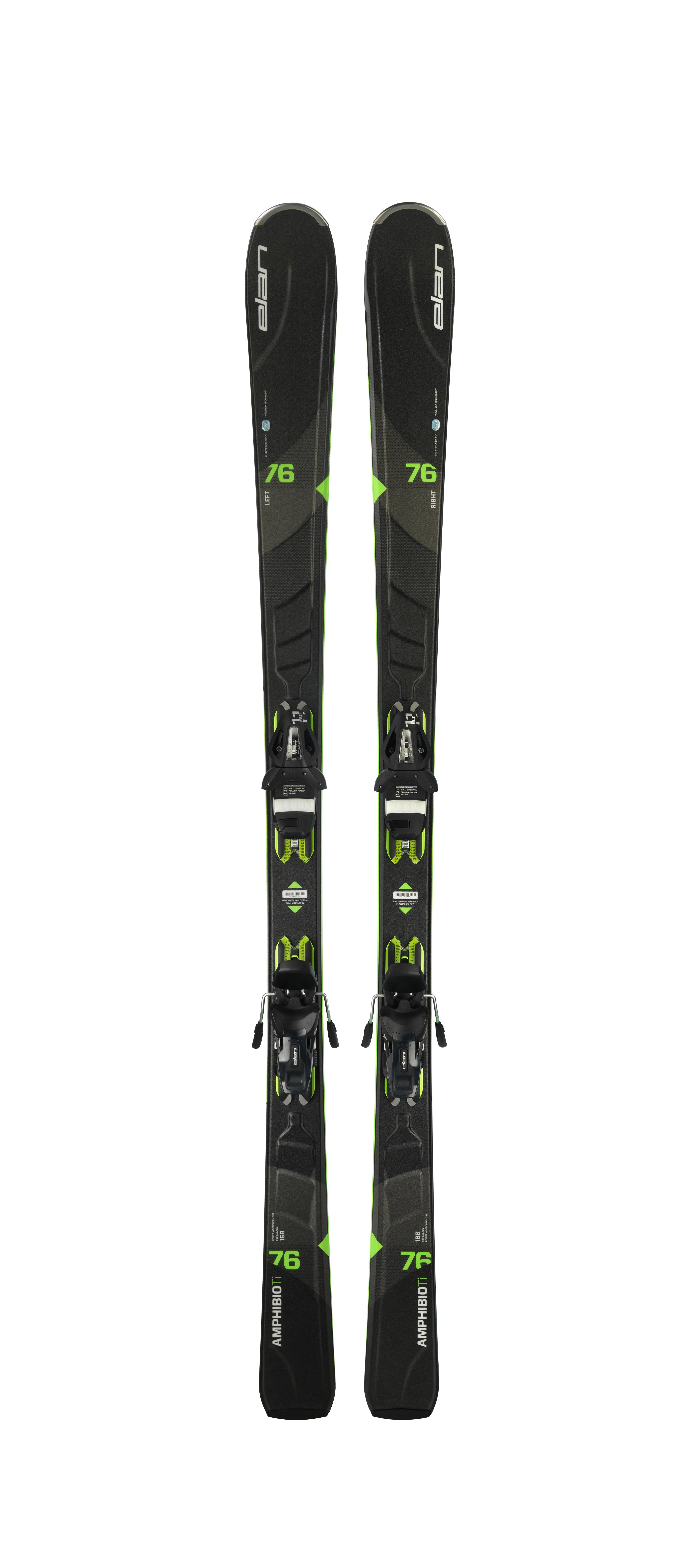 Горные лыжи с креплениями Elan 2017-18 AMPHIBIO 76 TI B/G PS EL11.0, Горные лыжи - арт. 889830420