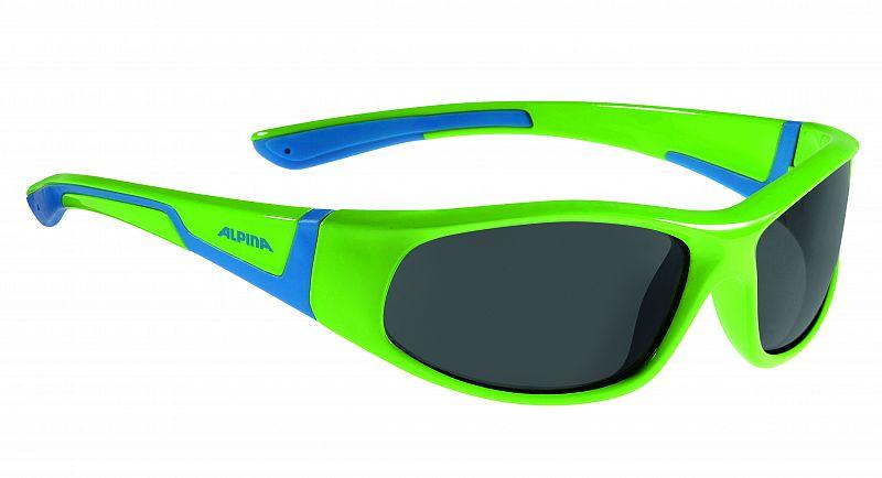 Очки солнцезащитные Alpina 2018 FLEXXY JUNIOR neon green-blue, Очки солнцезащитные - арт. 1017680413