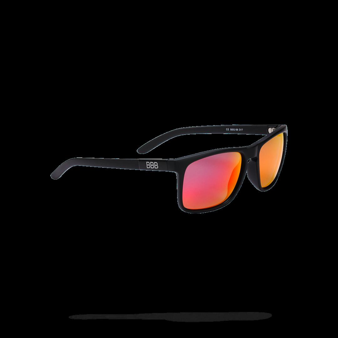 Очки солнцезащитные BBB 2018 Town PZ PC MLC red polarised lenses черный матовый, Очки солнцезащитные - арт. 1022120413