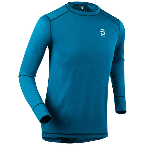 Футболка с длинным рукавомом Bjorn Daehlie 2017-18 Shirt TrainingWool Mykonos Blue (US:M) - артикул: 973070179