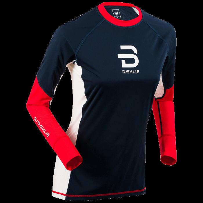 Футболка с длинным рукавом беговая Bjorn Daehlie 2017-18 Long Sleeve Tech Wind Wmn High Risk Red - артикул: 974120179