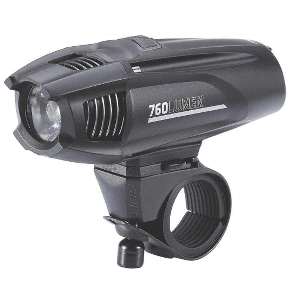 Фонарь передний BBB Strike 760 lumen LED black rechargealbe lithium ion 2600mAh battery (BLS-74)
