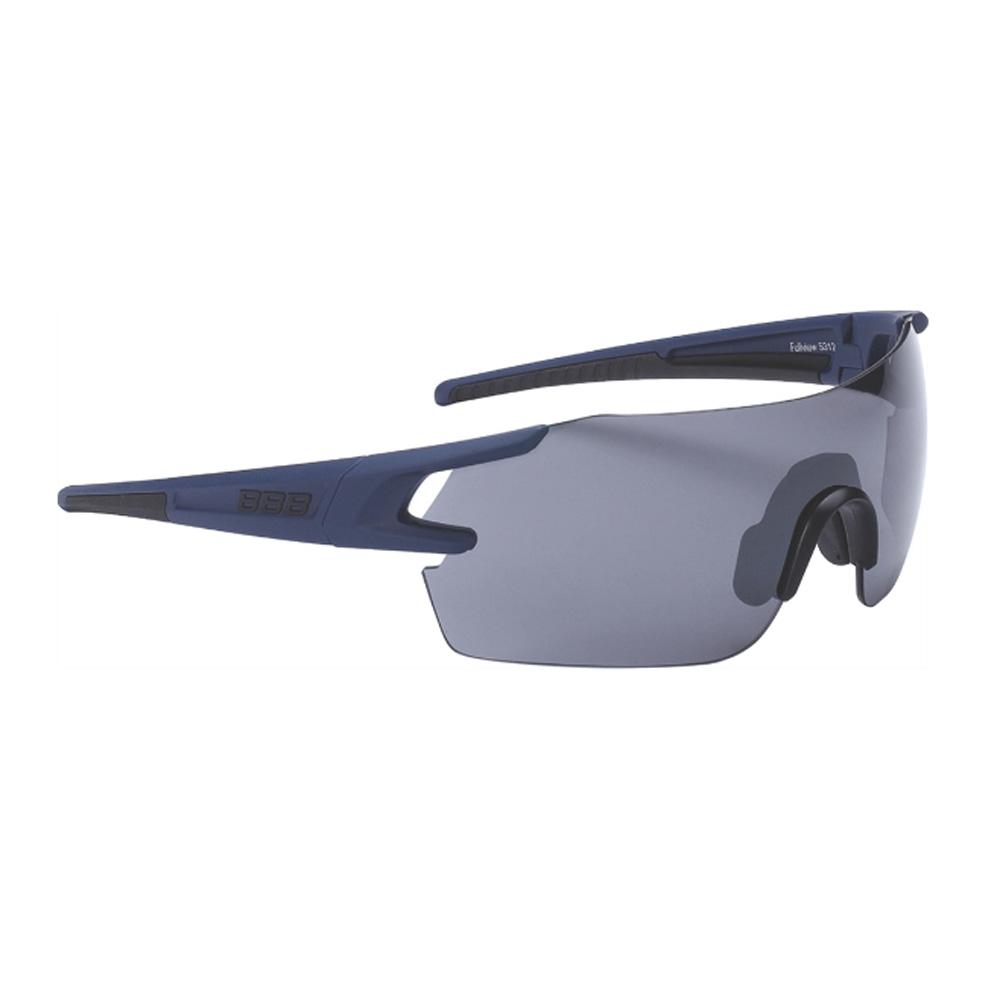 Очки солнцезащитные BBB 2018 FullView PC Smoke flash mirror lens синий, черный, Очки - арт. 1031310161