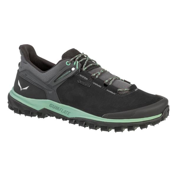 Ботинки для треккинга (низкие) Salewa 2017-18 MS WANDER HIKER GTX Black Out/Berly Green, Треккинговая обувь - арт. 1002980252