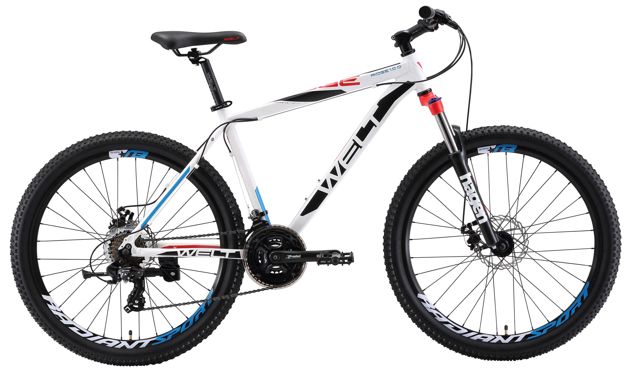 Велосипед Welt 2018 Ridge 1.0 D matt white/black/red (US:S), Велосипеды - арт. 997480390