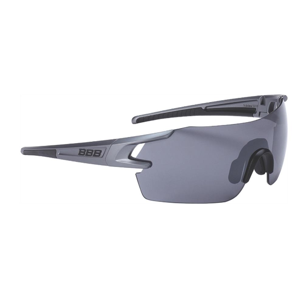 Очки солнцезащитные BBB 2018 FullView PC Smoke flash mirror lens черный, металл