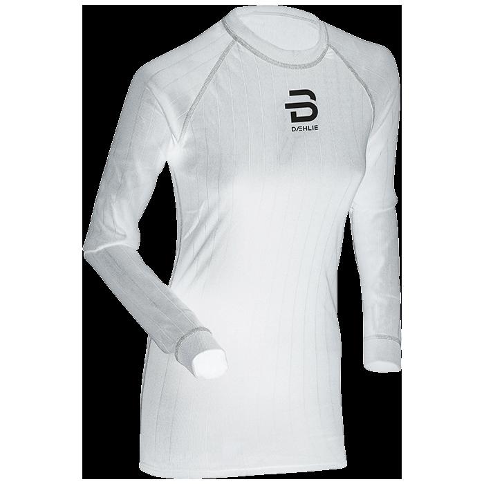 Футболка с длинным рукавом беговая Bjorn Daehlie 2017-18 Shirt Compete LS Wmn Snow White (US:M) - артикул: 973150179