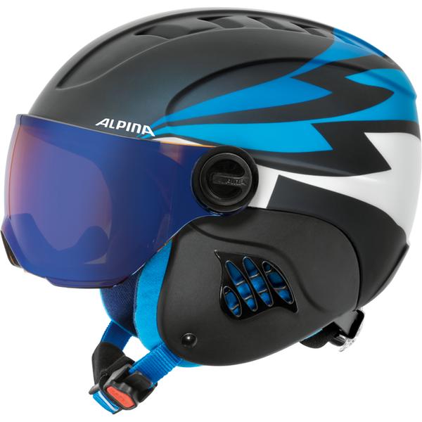 Зимний Шлем Alpina CARAT LE VISOR HM nightblue-denim matt, Горнолыжные и сноубордические шлемы - арт. 925850428