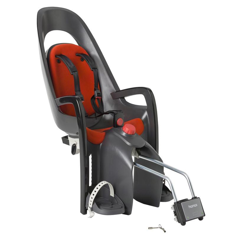 Детское кресло HAMAX CARESS W/LOCKABLE BRACKET серый/красный, Велокресла - арт. 578170364