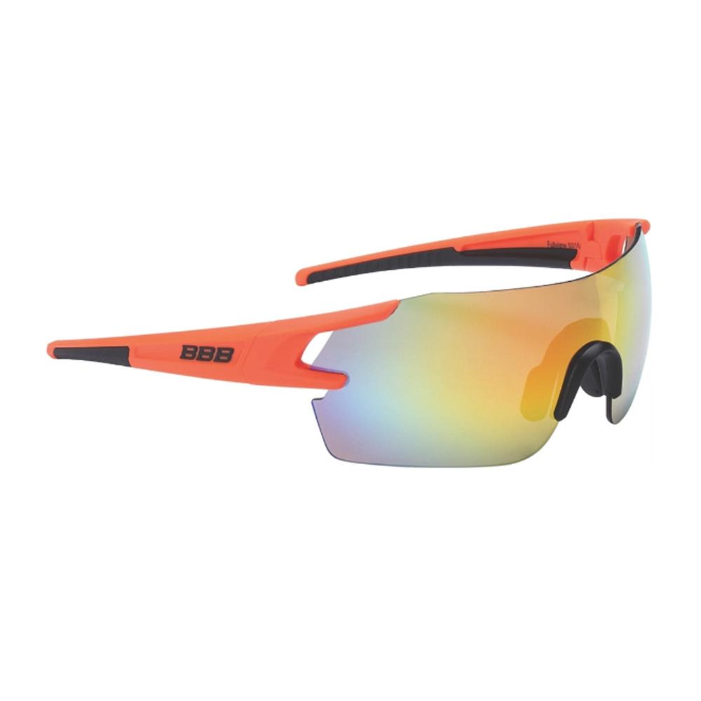 Очки солнцезащитные BBB 2018 FullView PC Smoke orange MLC lens оранжевый, черный, Очки - арт. 1031320161