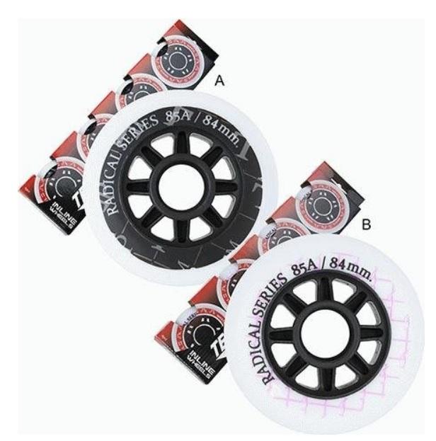 Комплект колёс для роликов TEMPISH 2018 RADICAL 84x24mm 85A A, Коньки, ролики, самокаты - арт. 1030520223