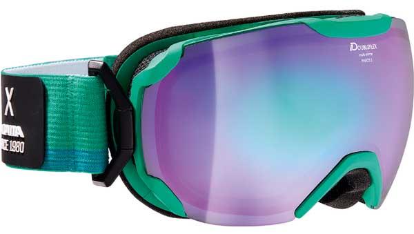 Очки горнолыжные Alpina PHEOS S MM green/white/blue (coldgreen) (б/р:ONE SIZE), Горнолыжные очки и маски - арт. 969040418
