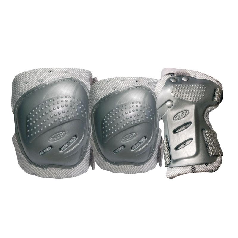 Комплект 3-х элементов защиты TEMPISH COOL MAX 3-set (knee+elbow+wrists) Серебро, Защита при езде на роликовых коньках - арт. 680700432