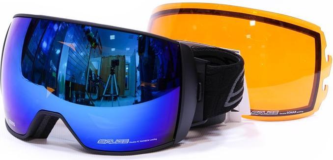 Очки горнолыжные Salice 605DARWF w. Coffre & Spare Lens BLUE/RW CLEAR + SONAR (б/р:ONE SIZE), Горнолыжные очки и маски - арт. 969280418