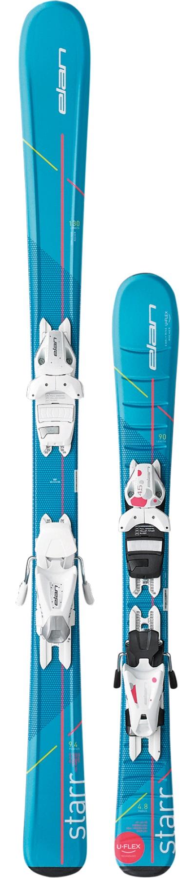 Горные лыжи с креплениями Elan 2017-18 Starr QS 100-120
