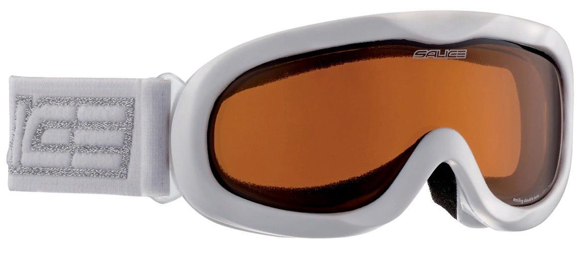Очки горнолыжные Salice 884DAF WHITE/BROWN, Горнолыжные очки и маски - арт. 1063180418