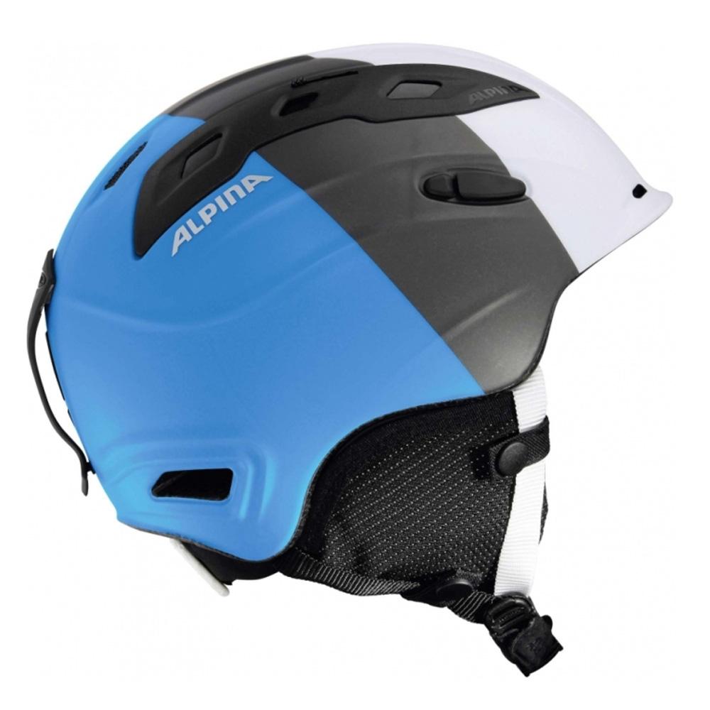 Зимний Шлем Alpina SNOWMYTHOS white-silver-blue matt, Горнолыжные и сноубордические шлемы - арт. 740010428