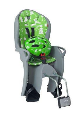 Детское кресло HAMAX KISS SAFETY PACKAGE серый/зеленый, Велокресла - арт. 577750364